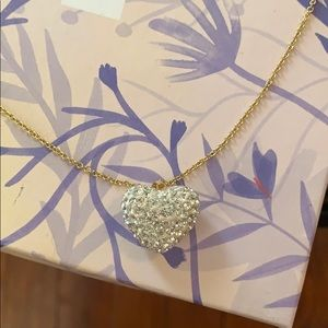 Jewelry - Crystal heart pendant on a 14k gold plated chain